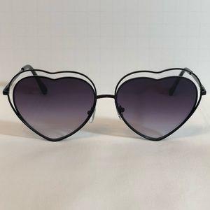 cef5f8090252 Accessories - Black Double Frame Heart Sunglasses